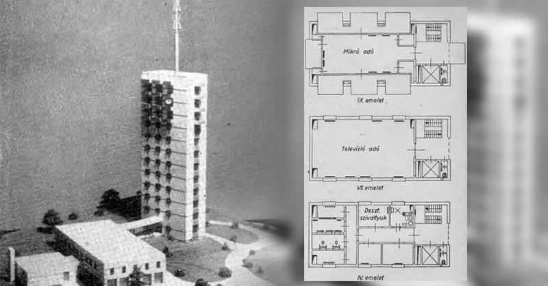 A budapesti televízió-adótelep épületgépészeti berendezései