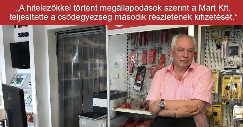 Mart Kft. – túl vannak a nehezén