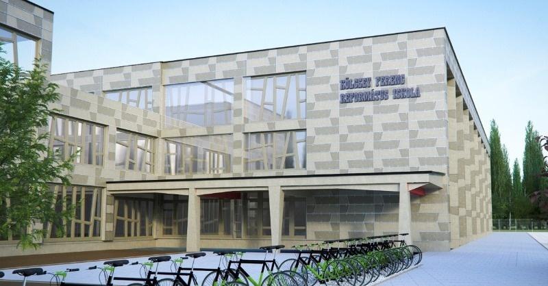 Rendhagyó homlokzatszigeteléssel készül egy iskola Fehérgyarmaton
