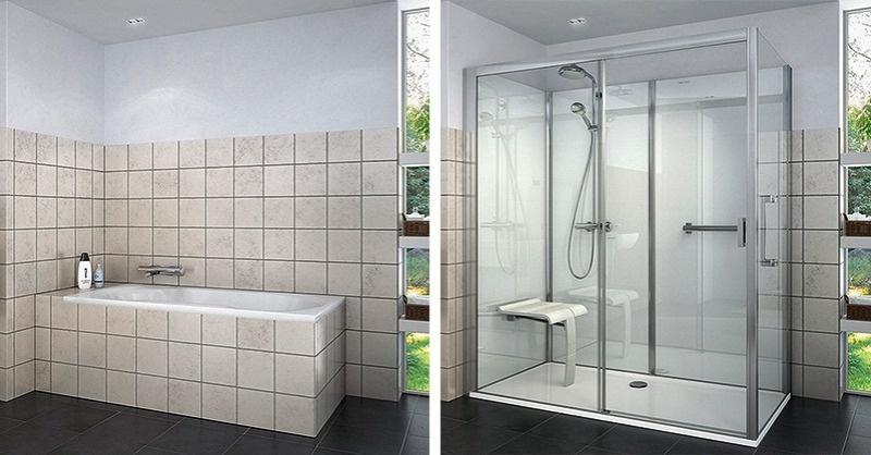 Fürdőkád cseréje zuhanyfülkére felújítás nélkül