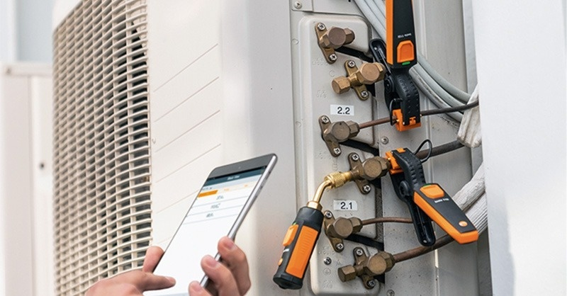 testo Smart Probes eszközök a hűtéstechnikában