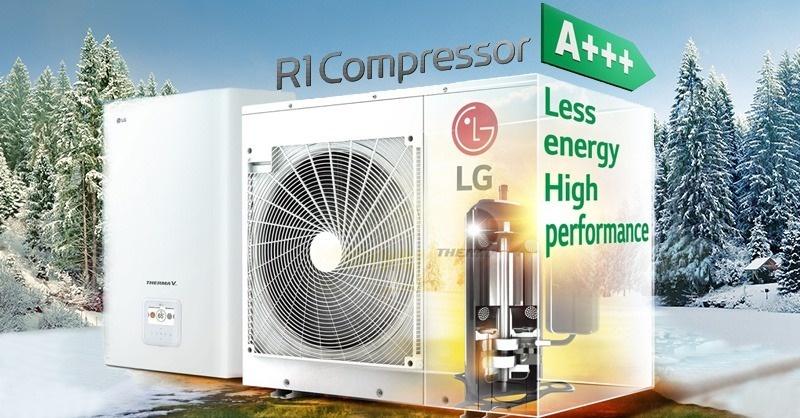 Környezetkímélő HVAC-rendszer új kompresszortechnológiával az LG-től