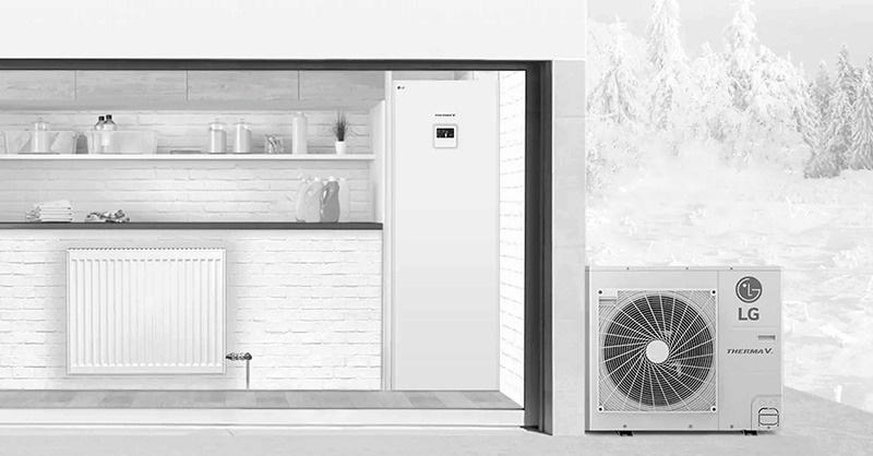 Integrált víztartállyal ellátott HVAC modell az LG-től