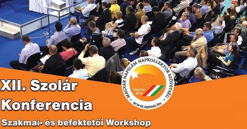XII. Szolár Konferencia – Szakmai és befektetői workshop