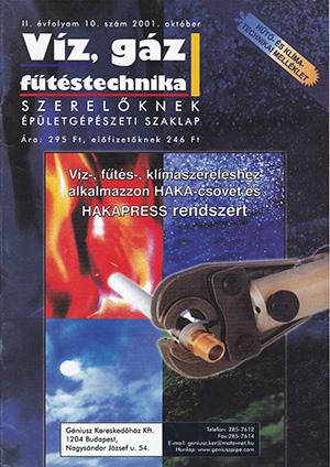 VGF&HKL szaklap 2001. október