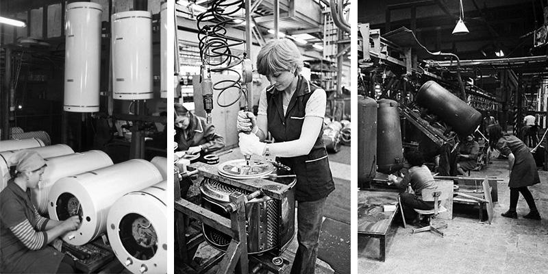Női dolgozók a Hajdúsági Iparművekben
