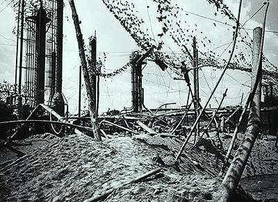 Bázakerettye az 1944-es szövetségi bombatámadás után