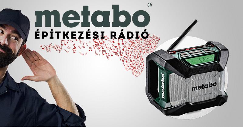 Metabo építkezési rádió