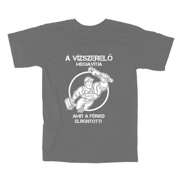 Szürke vízszerelő póló