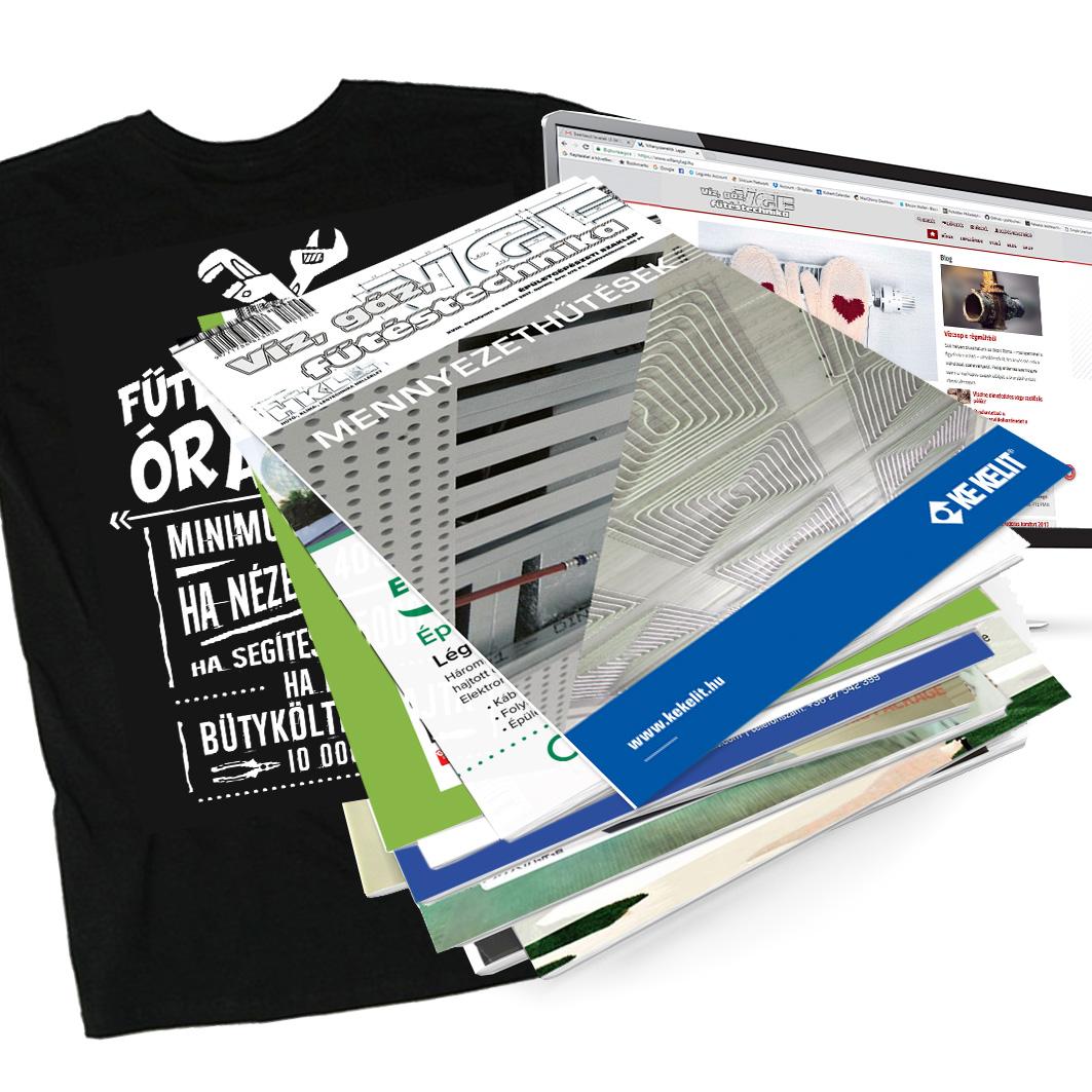 Papír + elektronikus éves előfizetés akciós pólóval