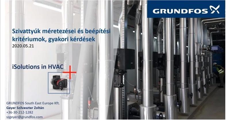 GHU Szivattyúk méretezései és beépítési kritériumok, gyakori kérdések